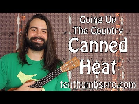 Canned Heat - Going Up The Country - Ukulele Tutorial with solo and tabs