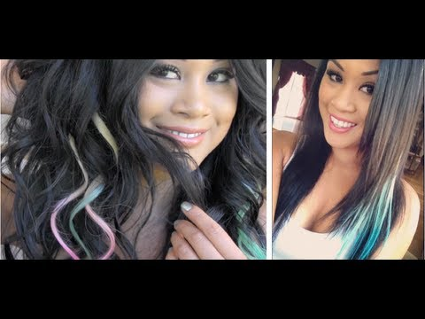 tutorial clip-in colored hair