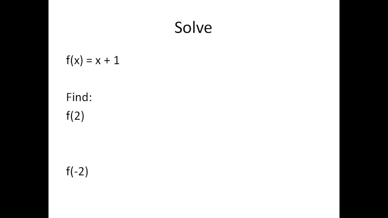 Solving Functions Tables Graphs Equations Simplifying