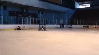 Tréning Ice sledge hokej RK