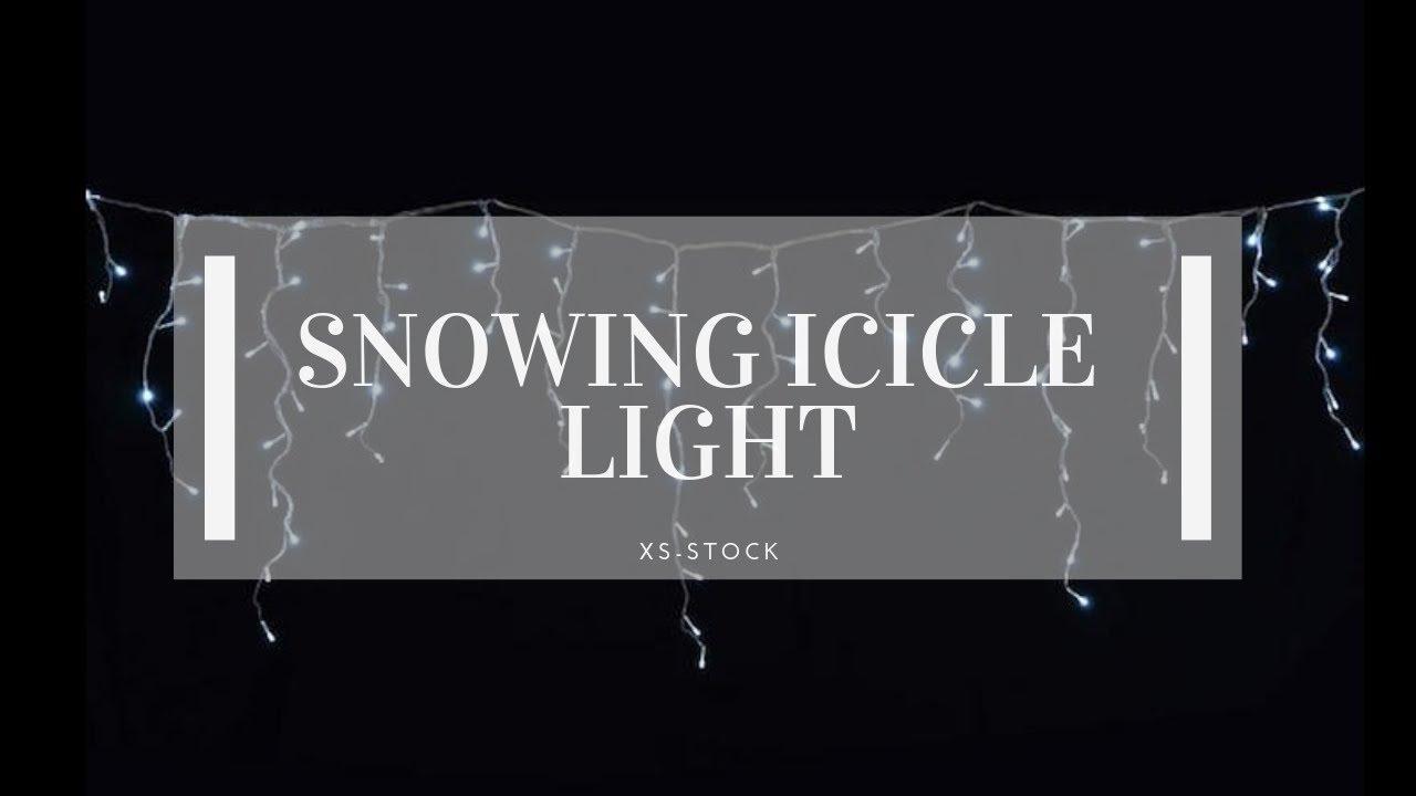 Snowing Christmas Lights.White Led Snowing Icicle Christmas Light