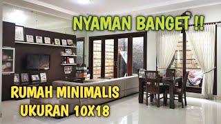 Inspirasi Rumah Minimalis Ukuran 10X18 Yang Hangat Dan Nyaman - Video Home Tour