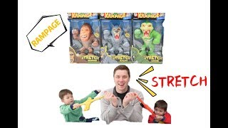 Rampage Super Stretch Action Figures Unboxing and Reviews/Stretch Armstrong Vac Pac Toys