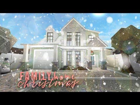 Roblox | Bloxburg: Cheap Family Christmas Home | Speedbuild