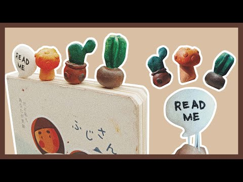 HOW TO: D.I.Y. BOOKMARK USING CLAY & PAPER CLIP // STOP MOTION