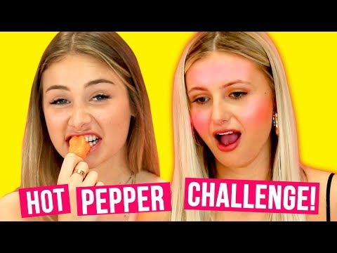 Ally and Maddie FACE OFF | Hot Pepper Challenge w/ MALIBU SURF