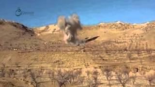 وكالة قاسيون  غارة جوية بالطيران الحربي على جرود القلمون بريف دمشق 7-12-2015
