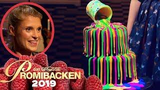 Im Dunkeln leuchtender Gravity-Cake | Verkostung | Das große Promibacken 2019 | SAT.1 TV