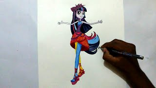how to draw Twilight Sparkle from My Little Pony Equestria Girls