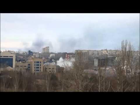 Обстрел Куйбышевский район города Донецка - 03.02.2015