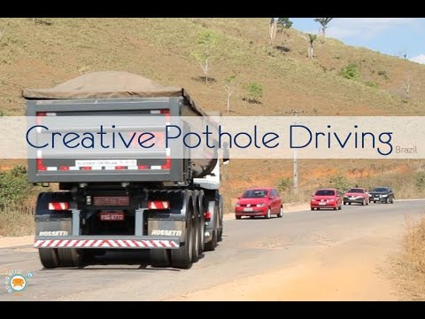 Creative Pothole Driving in Brazil