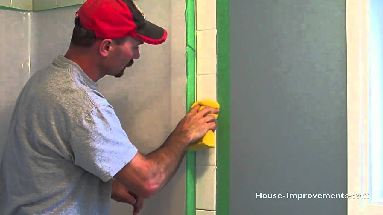 How To Grout Wall Tiles - YouTube