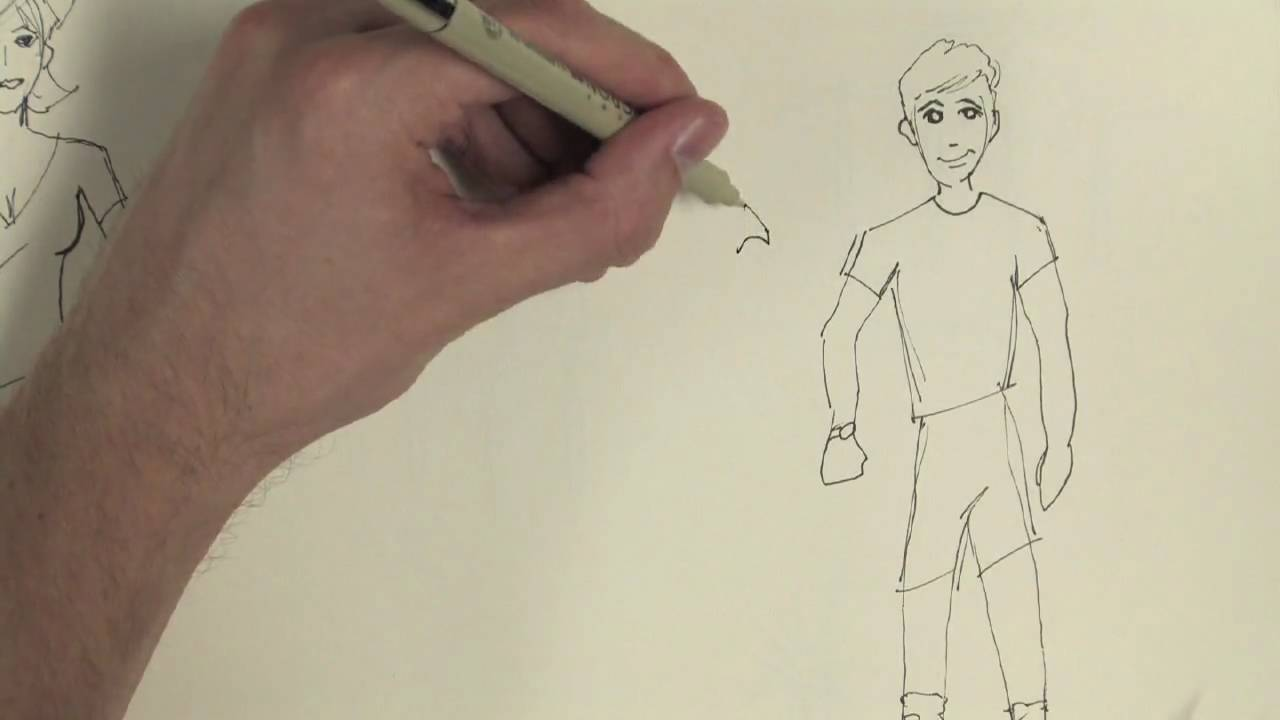 Drawing: Cartoons & Fashion : How to Draw Boys' Clothes ...