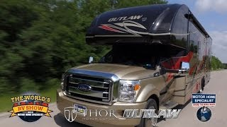 Outlaw Super C Toy Hauler RV Review at Motor Home Specialist 2014 2015