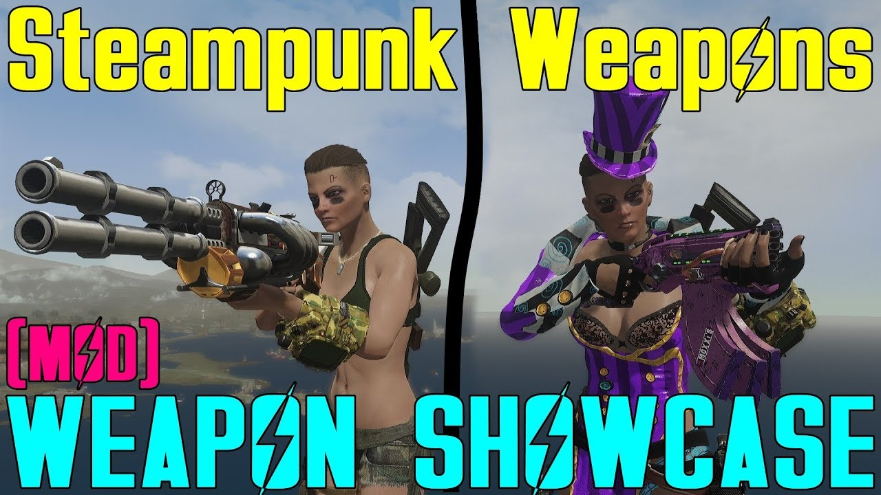 Fallout 4: Weapon Showcases: Steampunk Weapons (Mod)