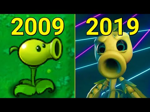 Evolution Of Plants Vs. Zombies Games 2009-2019