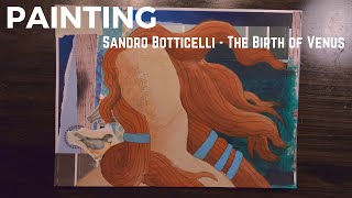 Painting Sandro Botticelli Birth of Venus