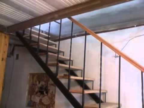 Escaleras rectas con maderas youtube for Escalera recta de hierro y madera