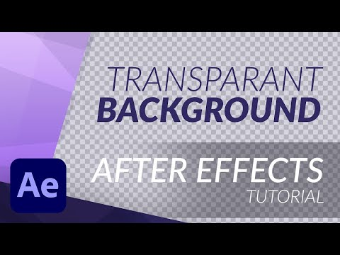 HOW TO EXPORT / RENDER WITH TRANSPARANT BACKGROUND in AFTER EFFECTS