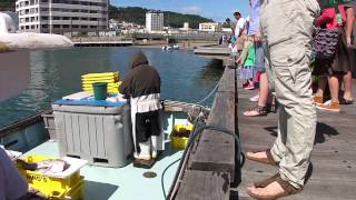 Fishermen Selling Fish From A Boat ― Wellington Harbour, Nz