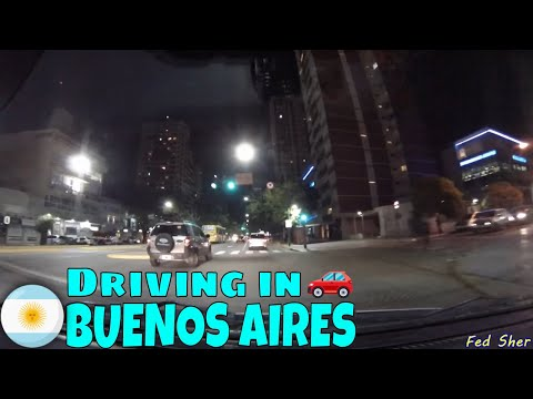Driving in Buenos Aires (from La Lucila to Palermo)