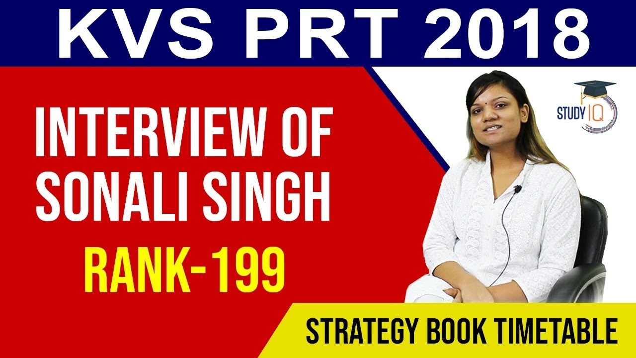 Download KVS PRT Topper Interview AIR 199 - How to clear KVS PRT Exam, Strategy, Books, Time Table