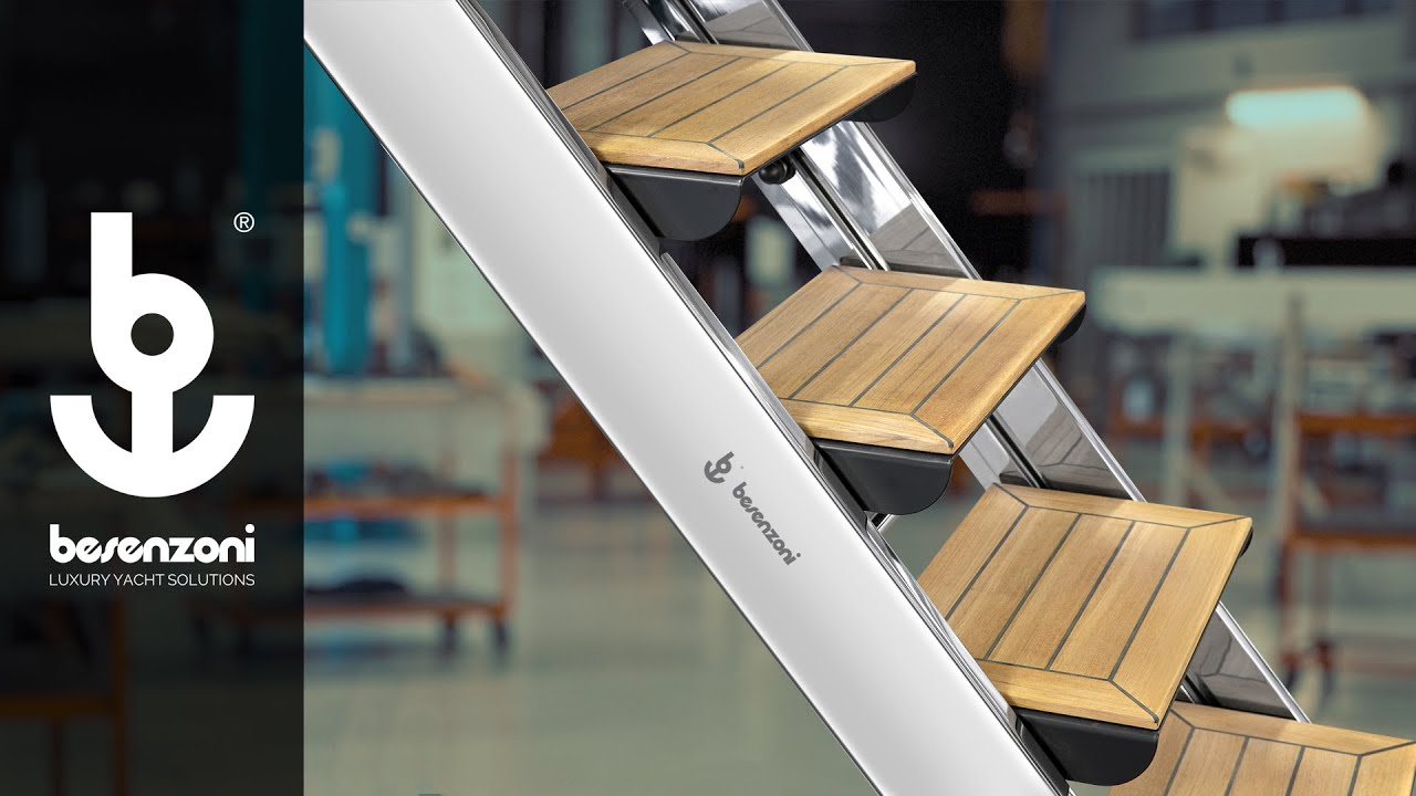 Ladder gangway for Yacht, Superyacht and Boat - Scala passerella SP 607 - Besenzoni