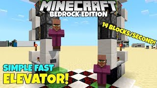 Minecraft Bedrock: Simple And FAST Elevator Tutorial! Best Yet! MCPE Xbox Pc