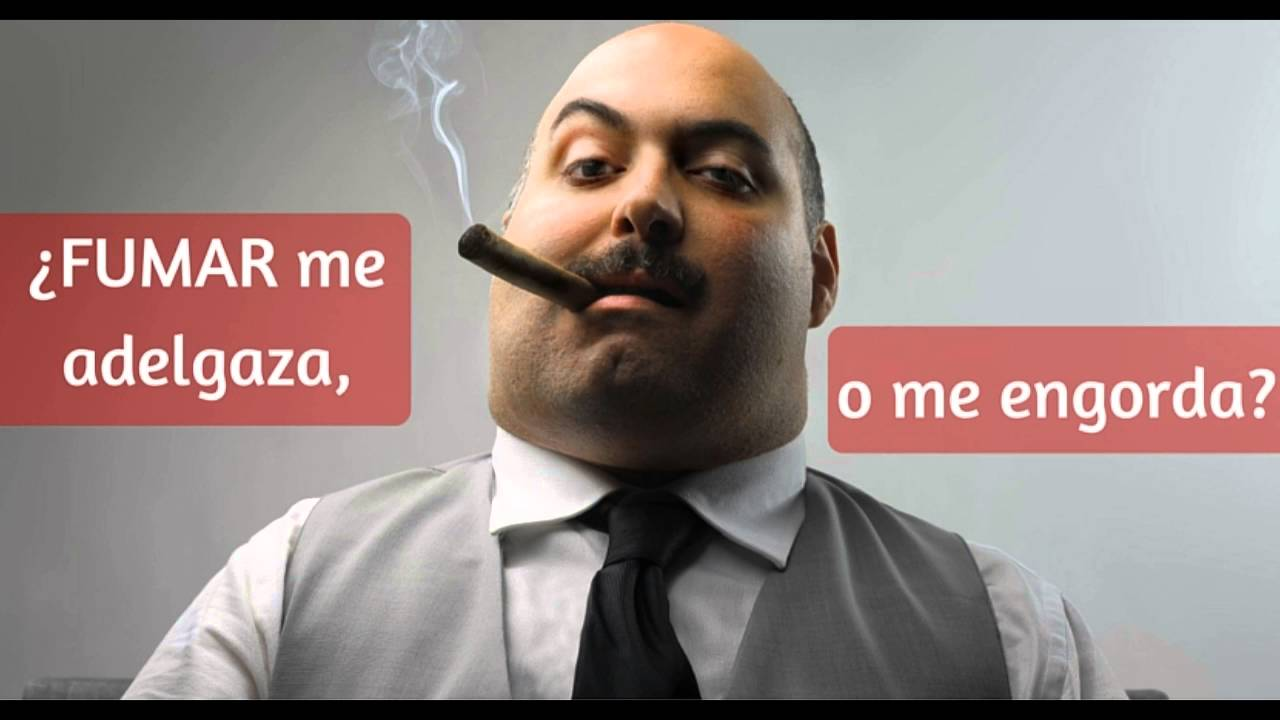 El cigarro te hace bajar de peso