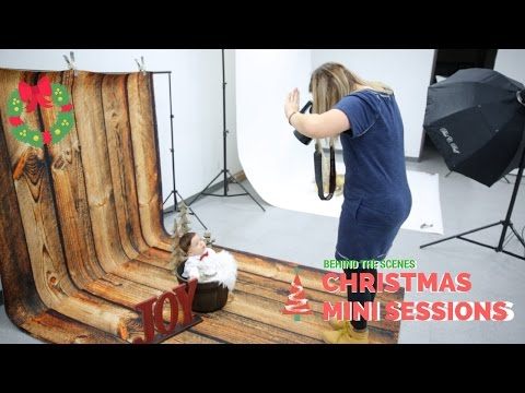 Christmas Mini Sessions for kids, Christmas Photoshoot behind the scenes