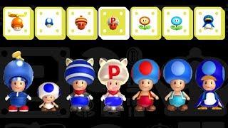 New Super Mario Bros. U Deluxe - All Blue Toad Transformations