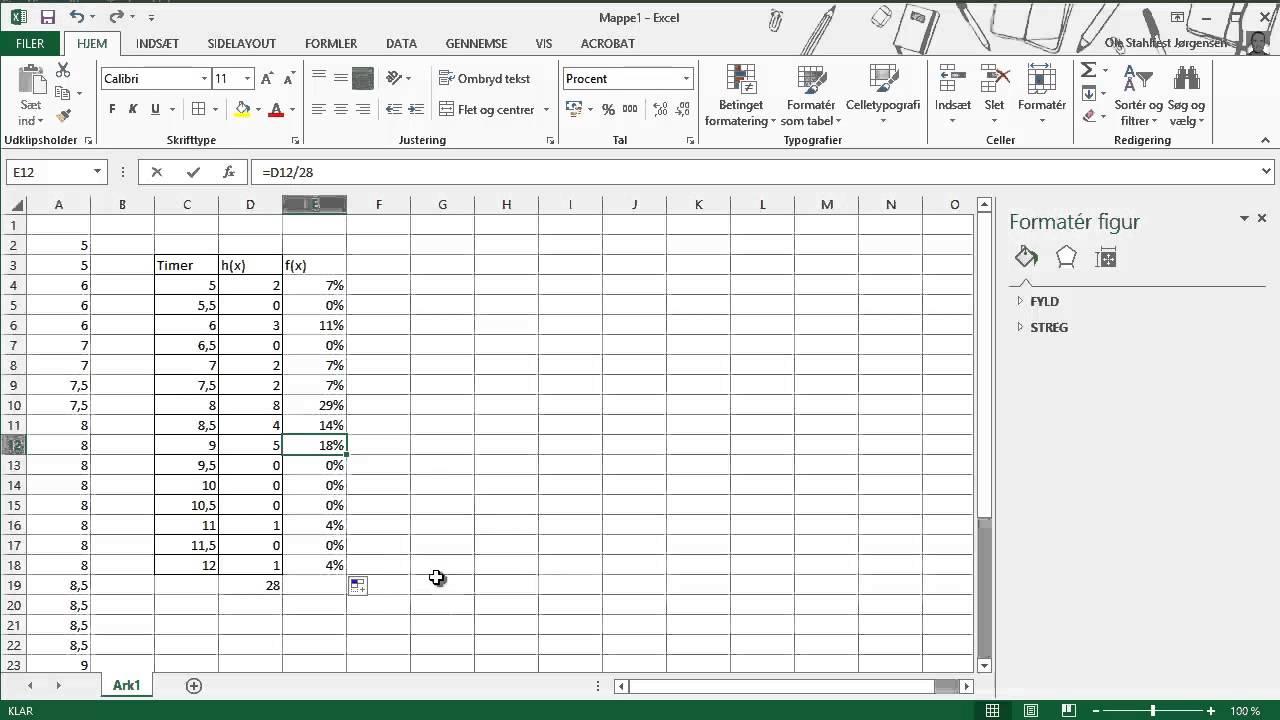 Excel og statistik del2