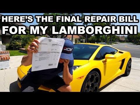 OUCH! HERE'S HOW MUCH IT COST TO FIX MY LAMBORGHINI!