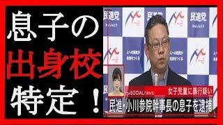 【驚愕】民進党・小川勝也参院幹事長の長男、女子小学生への暴行容疑で逮捕! 出身校などが特定!