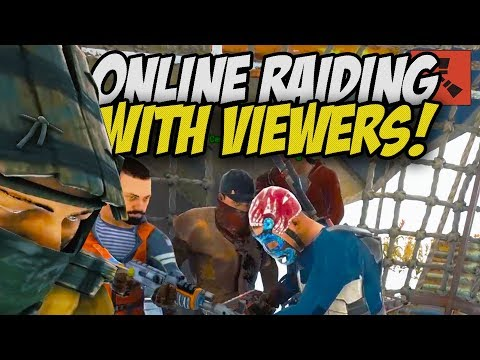 BRINGING MY FANS to an INSANE ONLINE RAID! - Rust thumbnail