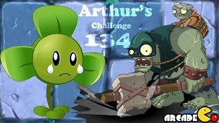 Plants Vs Zombies 2 Dark Ages: RUN RUN Gargantuar's Here Arthur's Challenge Level 134