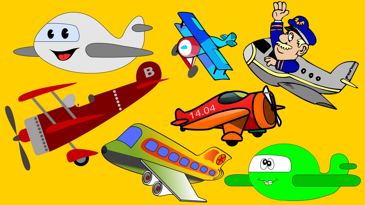 cartoon aircrafts for kids airplanes for children planes