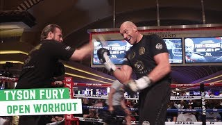 Tyson Fury flaunts incredible head movement & hand speed | Full Open Workout