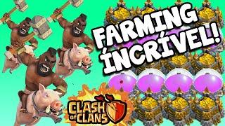 Clash Of Clans   ATAQUES DE FARMING INCRÍVEIS COM CORREDORES! CONSEGUINDO MUITOS RECURSOS!