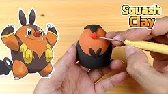 Sculpting Pignite Fire/Fighting Pokémone Clay art