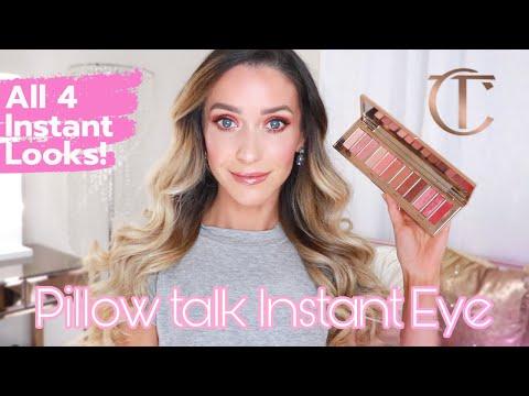 new pillow talk instant eye palette charlotte tilbury review demonstration
