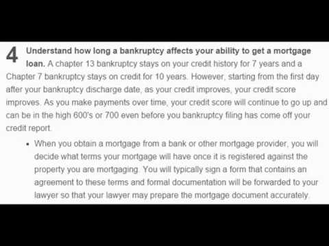 How to Re apply for a Mortgage After Bankruptcy