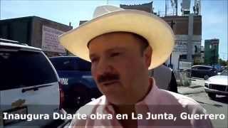 Inaugura Duarte pavimentación en La Junta (Guerrero)