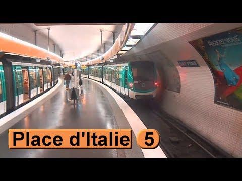 M tro de paris place d 39 italie ligne 5 ratp mf01 youtube for Metro porte d italie