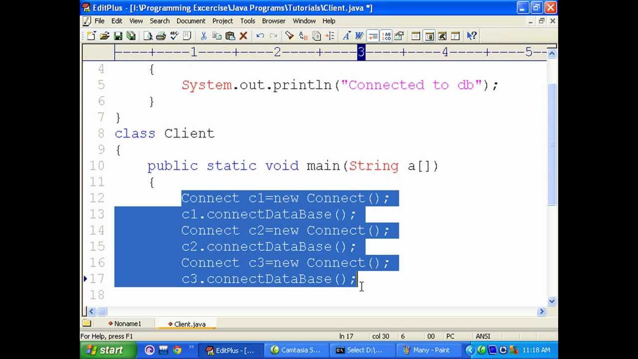 how to call static method in java