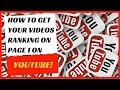 How to do SEO on YouTube and get your videos ranking on page 1.