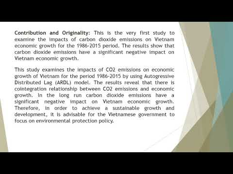Co2 Emissions and Economic Growth in Vietnam An ARDL Bound Testing Approach  AJEM 61 47 55