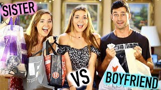 BOYFRIEND VS TWIN SISTER - Shopping Challenge | NinaAndRanda