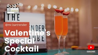 Cupid's Love | Valentine's Day Cocktail | The BarTrender Tube