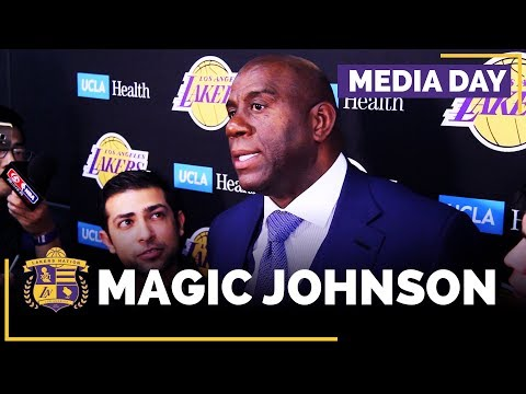 Lakers Media Day: Magic Johnson (FULL INTERVIEW)